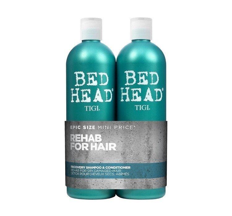Szampon + odżywka do włosów zniszczonych Tigi Twin Recovery 2x 750 ml