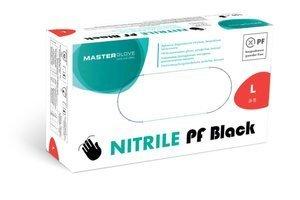 Rękawice nitrylowe Master Glove Nitrile PF Black rozmiar L 100 szt.
