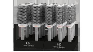 Zestaw szczotek Olivia Garden Ceramic Ion SPEED XL 18 sztuk + 2 x display